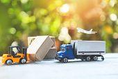 Logistics Transport Import Export Shipping Service Customers Order Things From Via Internet Internat poster