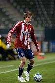 CARSON, CA. - 9 de abril: Chivas USA F Justin Braun #17 durante el partido de la MLS entre Columbus Crew & Chi