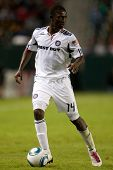 CARSON, CA. - OCT 23: Chicago Fire F Patrick Nyarko #14 during the Chivas USA vs Chicago Fire game o