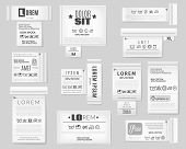 Laundry Flat Icons Textile Labels Set. A Set Of Realistic Textile Labels On Grey Background With Lau poster