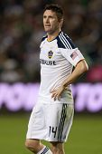 CARSON, CA. - OCT 1: Los Angeles Galaxy F Robbie Keane #14 during the MLS game between Real Salt Lak