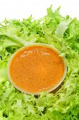 stock photo of escarole  - escarole endive with romesco sauce - JPG