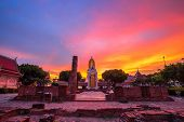 Buddha Statue At Sunset Are Buddhist Temple At Wat Phra Si Rattana Mahathat Also Colloquially Referr poster