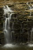 stock photo of waterfalls  - A closeup of a waterfall in blurred motion - JPG