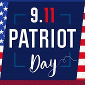 Patriot Day Usa Never Forget 9.11 Card. Patriot Day, September 11, We Will Never Forget, Vector Bann poster