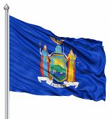 Waving Flag of USA state Michigan