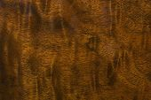 stock photo of woodgrain  - Closeup of antique wood grain from a dining room buffet - JPG