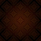 vector seamless wallpaper in dark chocolate color