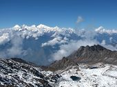stock photo of surya  - View from Surya Peak  - JPG