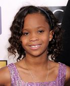 LOS ANGELES - JAN 10:  Quvenzhane Wallis arrives to the