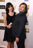 LOS ANGELES - JAN 10:  Jack Black & Wife arrives to the