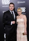 LOS ANGELES - DEC 09:  Chris Pratt & Anna Faris arrives to the