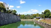 Kyoto, Japan - Oct 27: Pond At Nijo Castle