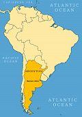 Mapa de localización de Argentina