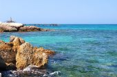 Beautiful beach in Famagusta in Cyprus