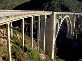 pic of bixby  - Bixby Creek bridge along highway 101 in Big Sur California - JPG