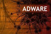 Alerta de segurança do adware