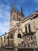 picture of anjou  - XIIth century gothic cathedral - JPG