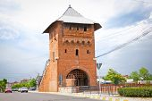 Gate poartal landmark of Targoviste city the old capital of Valahia,  (Tirgoviste), Romania. poster