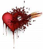 Dispara a través del vector de corazón