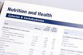 Calorías y carbohidratos