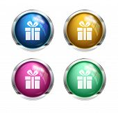 Vector gift button icons