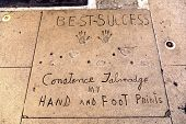 Constance Jehnadges Handprints In Hollywood Boulevard