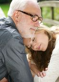Portrait Of A Loving Father And Beautiful Daughter Together