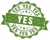 Yes Grunge Stamp