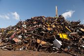 scrap metal heap