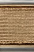 burlap hessian and parchment on wood background