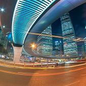 Beautiful Shanghai City Center At Night