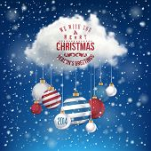 stock photo of cloudy  - The Magic Christmas Cloud - JPG
