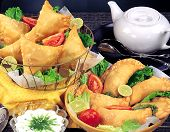 picture of punjabi  - A verity  delicious, fresh and famous Punjabi and Arabian samosa