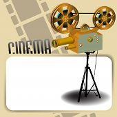 Cinema frame with projector