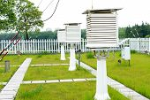 stock photo of louvers  - Observatory in the woods on the lawn one louvers box - JPG