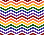 Gay Pride Colors In A Zigzag Pattern Background