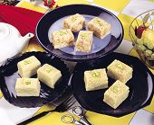 image of barfi  - Fresh delicious and famous Indian and Pakistani sweet kalakand cubes with pistachio - JPG
