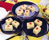 picture of barfi  - Fresh delicious and famous Indian and Pakistani sweet kalakand cubes  - JPG