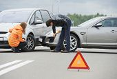 stock photo of accident emergency  - Car collision - JPG