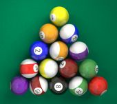 Pool Billiard Ball On Green