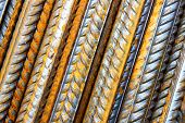 Rods of steel rebar