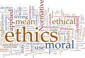 stock photo of ethics  - Word cloud concept illustration of moral ethics - JPG