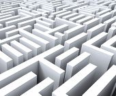 Maze Shows Challenge Or Complexity