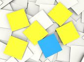Blank Postit Notes Shows Copyspace Memos And Notices
