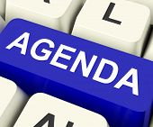 picture of lineup  - Agenda Key On Keyboard Meaning Schedule Outline Or Lineup - JPG