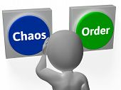 Chaos Order Buttons Show Disorder Or Management