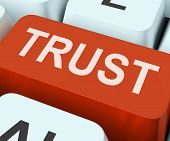 picture of trust  - Trust Key On Keyboard Meaning Believe Faith Or Trustful - JPG