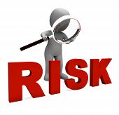 Risky Character Shows Dangerous Hazard Or Risk