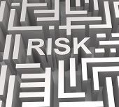 Risky Maze Shows Dangerous Or Risk